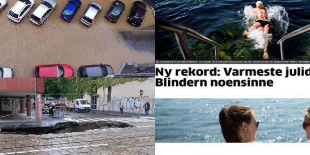 Maltempo luglio 2014: un mese di piogge record, mentre la Scandinavia somiglia ai Tropici. A Milano esonda...