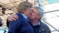 Landini e Camusso: dopo il bacio cala il gelo, lei via senza un