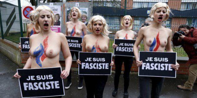 Femen contro Marine Le Pen al seggio: