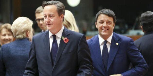 Vertice Ue: Renzi si appoggia, dopo Hollande, anche a Cameron per puntare i piedi in Europa. Accordo...