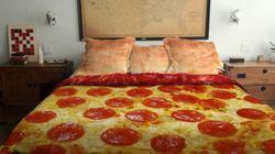 Vorreste una pizza come copriletto a casa
