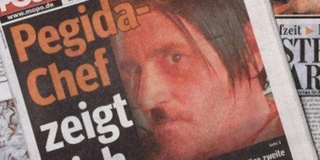 Luz Bachmann travestito da Hitler, il leader del movimento anti-Islam Pegida si dimette