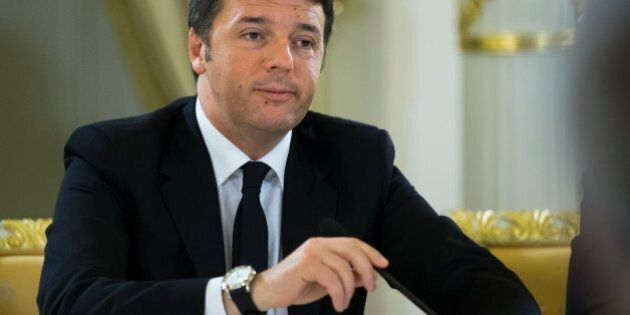 Italian Prime Minister Matteo Renzi meets with Russian Prime Minister Dmitry Medvedev in Moscow, Russia,...