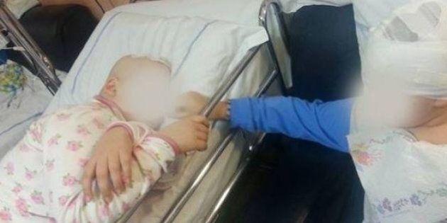 Terre dei fuochi, don Maurizio Patriciello pubblica la foto di due bambini malati all'ospedale