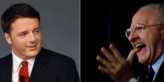 Primarie PD in Campania, Matteo Renzi riabbraccia Vincenzo De Luca sperando nel Tar