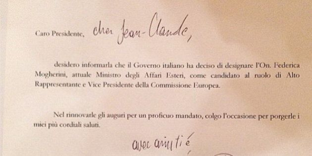 Matteo Renzi, lettera a Jean-Claude Juncker: