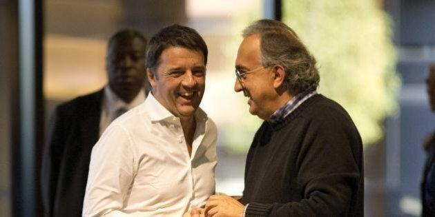 Sergio Marchionne sostiene Matteo Renzi: