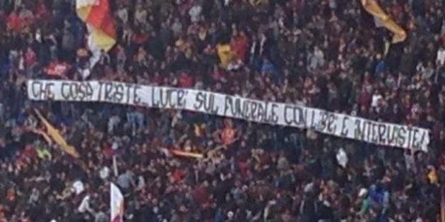 Roma Napoli, striscioni all'Olimpico contro la madre di Ciro Esposito. Antonella Leardi replica:
