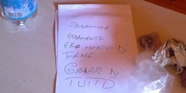 Ladro lascia biglietto di scuse dopo il furto: