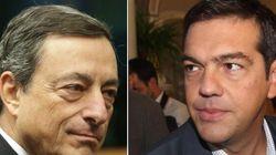 La carota di Draghi a Tsipras prima delle elezioni in Grecia