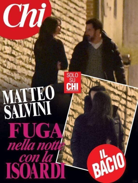 Matteo Salvini e Elisa Isoardi, primo bacio in pubblico: l'esclusiva del settimanale Chi