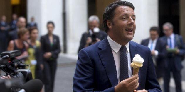 Renzi mangia il gelato, oggi dico che ha fatto
