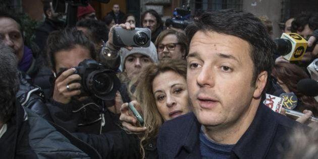 Matteo Renzi incontra i parlamentari del Pd: