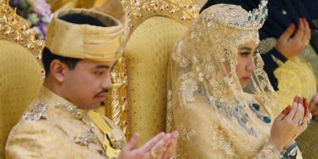 Nozze d'oro per il figlio del sultano del Brunei: il bouquet della sposa è di gemme