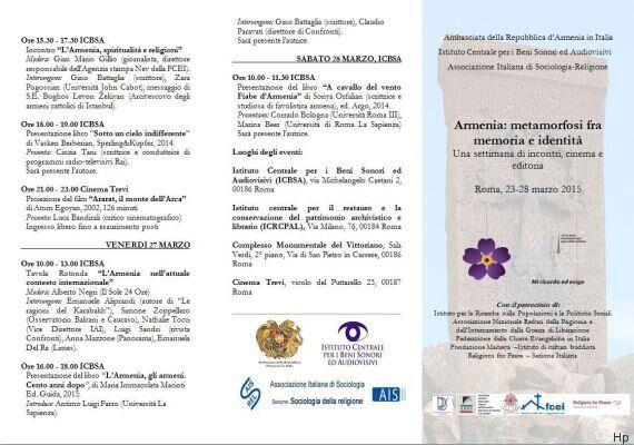 L'evento sul massacro armeno con la parola