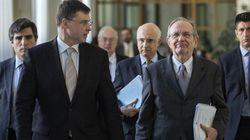 Il falco Dombrovskis porta a Padoan il primo sì dell'Europa sul