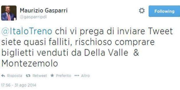 Italo querela Maurizio Gasparri. Il vicepresidente del Senato: