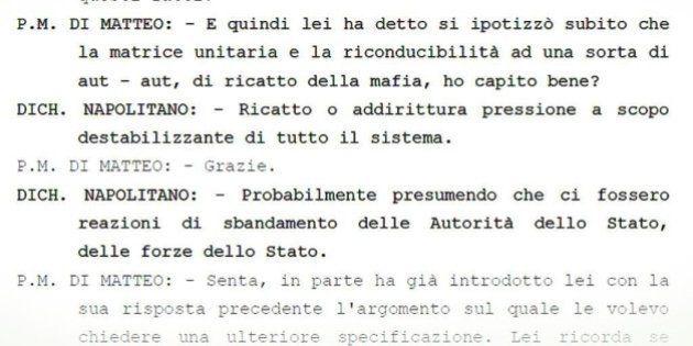 Trattativa Stato Mafia, la trascrizione della deposizione di Giorgio Napolitano:
