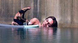 Hula, l'artista col surf. Murales a pelo