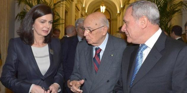 Giorgio Napolitano striglia Piero Grasso e Laura Boldrini:
