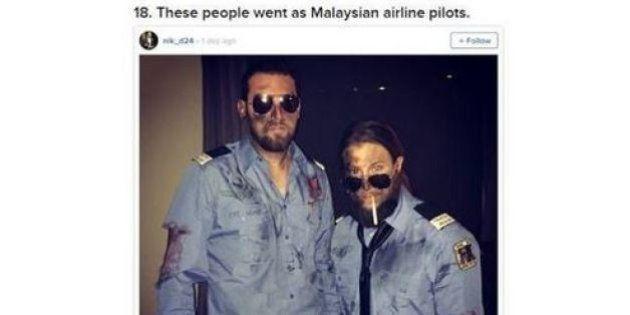 I costumi di Halloween che scherzano sul volo malese MH370 fanno arrabbiare la figlia di uno steward:...