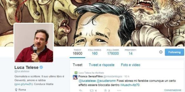 Luca Telese, cronaca su Twitter: