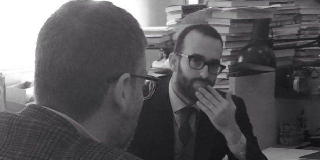 Claudio Cerasa direttore de Il Foglio. Il primo giorno alla guida del giornale al posto di Giuliano Ferrara