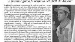 Tsipras, maglia di Che Guevara e cappellino, per il G8 di Genova del