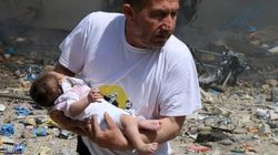 Salvo per miracolo dopo un bombardamento ad Aleppo