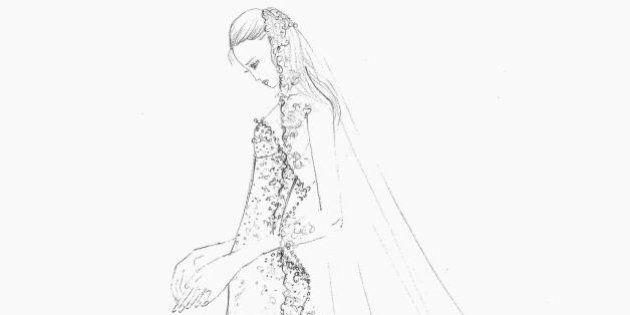 Elisabetta Canalis, l'abito da sposa svelato su Facebook: tutto pronto per il matrimonio del 14 settembre