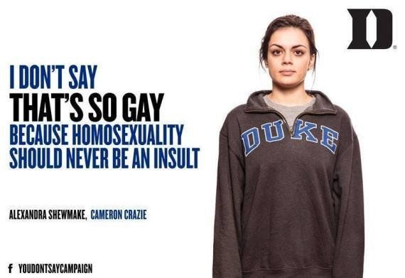 La campagna contro l'omofobia realizzata dagli studenti dell'Università di Duke