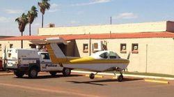Ha voglia di birra, parcheggia l'aereo davanti al