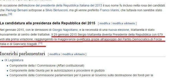 Sergio Mattarella presidente della Repubblica su Wikipedia: il candidato del Pd già eletto, fake fa il...