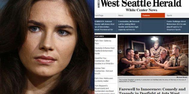 Amanda Knox, giornalista per il West Seattle Herald. Il direttore: