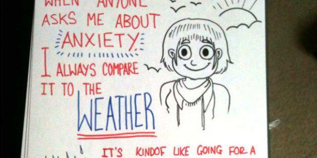 9 disegni su un blocknotes raccontano cosa significa soffrire d'ansia