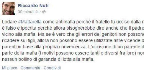Riccardo Nuti su Sergio Mattarella: