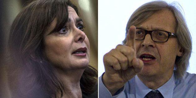 Vittorio Sgarbi contro Laura Boldrini: