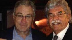 Robert de Niro con il senatore Razzi: