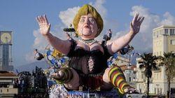 Sfila Angela Merkel a seno