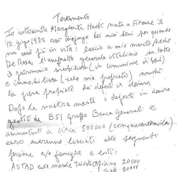 Margherita Hack e l'eredità, la badante: