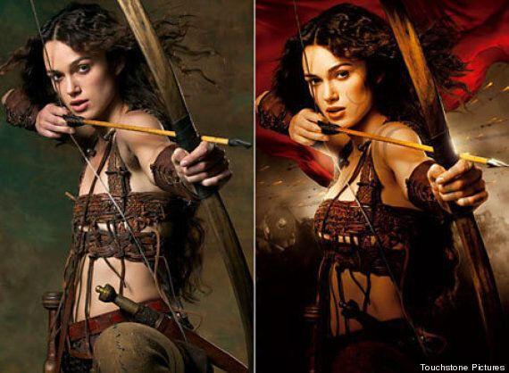 Keira Knightley vs Photoshop: