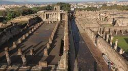 Smottamento a Pompei a causa del