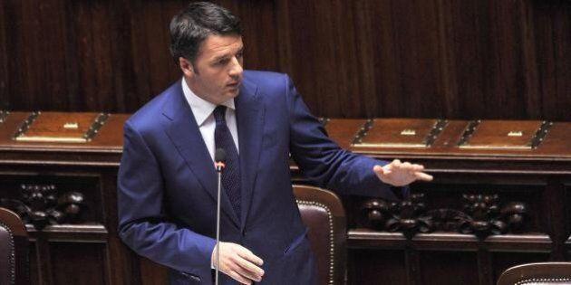Matteo Renzi parla alla Camera in vista del Consiglio europeo: