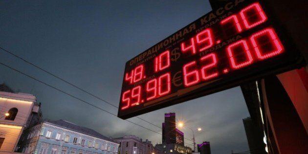 Borse in ribasso. Pesano il calo del petrolio sotto i 60 dollari al barile e il minimo storico del rublo...