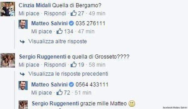 Matteo Salvini pubblica i numeri delle Prefetture: