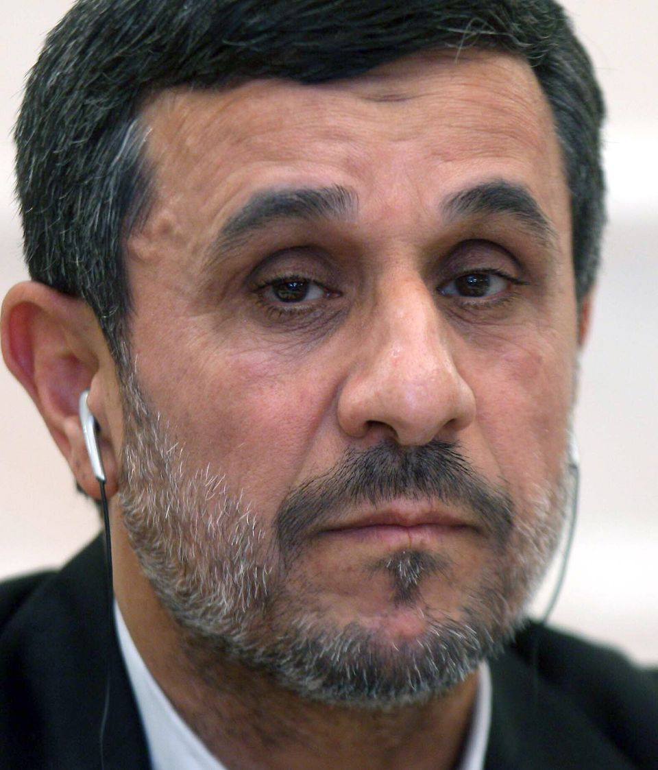"Even Ahmadinejad can't muster his trademark grin these days after a very public spat with Iran's Supreme Leader <a href=""http"