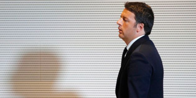 Italian Premier Matteo Renzi arrives for a press conference at the 2015 Expo, in Rho, near Milan, Italy,...
