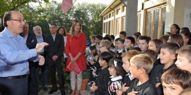Il primo giorno di scuola di Maria Elena Boschi, Marianna Madia, Stefania Giannini, Graziano Delrio,...