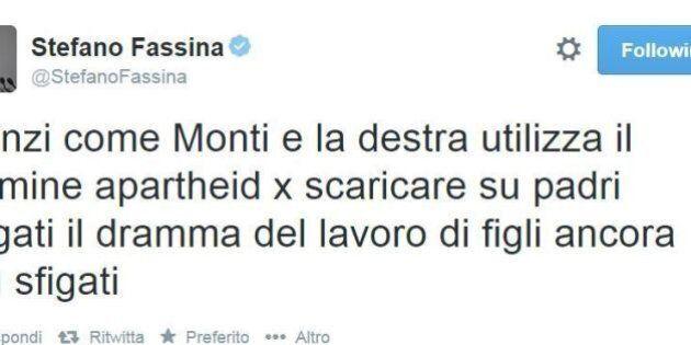 Matteo Renzi, Stefano Fassina su twitter: