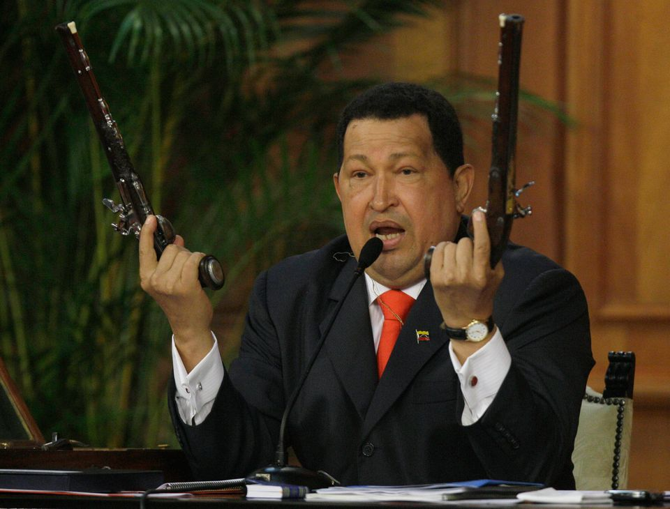 """Right in the middle of a ceremony marking the birthday of Simon Bolivar, Chavez <a href=""""https://www.huffpost.com/entry/boliv"""